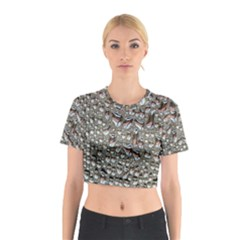 Droplets Pane Drops Of Water Cotton Crop Top