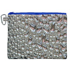 Droplets Pane Drops Of Water Canvas Cosmetic Bag (xxl)