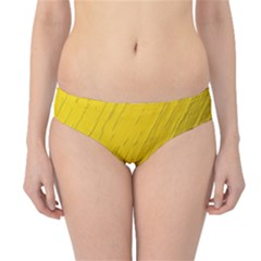 Golden Texture Rough Canvas Golden Hipster Bikini Bottoms