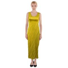 Golden Texture Rough Canvas Golden Fitted Maxi Dress