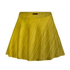 Golden Texture Rough Canvas Golden Mini Flare Skirt