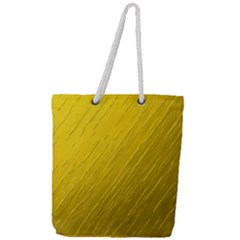 Golden Texture Rough Canvas Golden Full Print Rope Handle Tote (large)