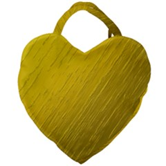 Golden Texture Rough Canvas Golden Giant Heart Shaped Tote