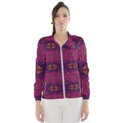 Pattern Decoration Art Abstract Wind Breaker (women)