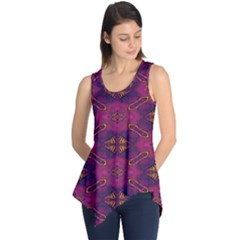 Pattern Decoration Art Abstract Sleeveless Tunic