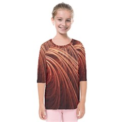 Abstract Fractal Digital Art Kids  Quarter Sleeve Raglan Tee