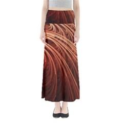 Abstract Fractal Digital Art Full Length Maxi Skirt