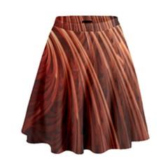 Abstract Fractal Digital Art High Waist Skirt