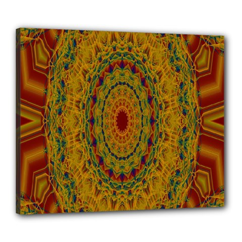 India Mystic Background Ornamental Canvas 24  X 20