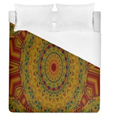 India Mystic Background Ornamental Duvet Cover (queen Size)