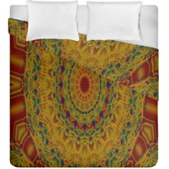 India Mystic Background Ornamental Duvet Cover Double Side (king Size)