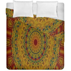 India Mystic Background Ornamental Duvet Cover Double Side (california King Size)