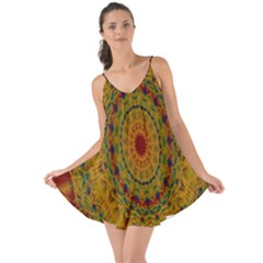 India Mystic Background Ornamental Love The Sun Cover Up