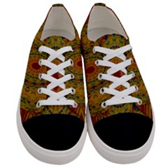 India Mystic Background Ornamental Women s Low Top Canvas Sneakers