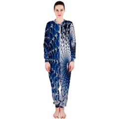 Mandelbrot Fractal Abstract Ice Onepiece Jumpsuit (ladies)
