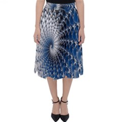 Mandelbrot Fractal Abstract Ice Folding Skater Skirt