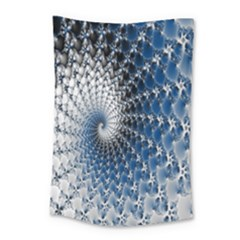 Mandelbrot Fractal Abstract Ice Small Tapestry