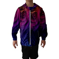 Abstract Pattern Art Wallpaper Hooded Wind Breaker (kids)