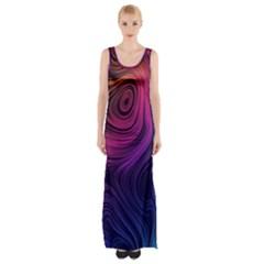 Abstract Pattern Art Wallpaper Maxi Thigh Split Dress