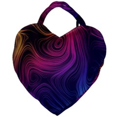 Abstract Pattern Art Wallpaper Giant Heart Shaped Tote