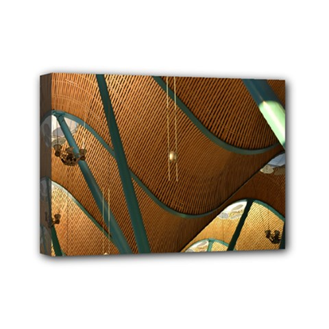 Airport Pattern Shape Abstract Mini Canvas 7  X 5