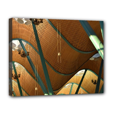 Airport Pattern Shape Abstract Canvas 14  X 11