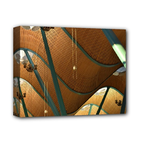 Airport Pattern Shape Abstract Deluxe Canvas 14  X 11
