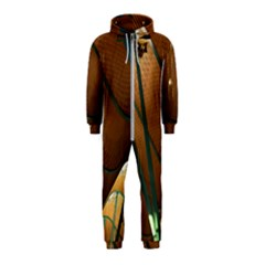 Airport Pattern Shape Abstract Hooded Jumpsuit (kids)