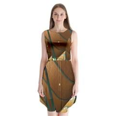 Airport Pattern Shape Abstract Sleeveless Chiffon Dress