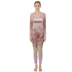Desktop Background Abstract Long Sleeve Catsuit