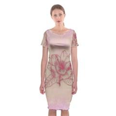 Desktop Background Abstract Classic Short Sleeve Midi Dress