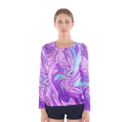Abstract Art Texture Form Pattern Women s Long Sleeve Tee