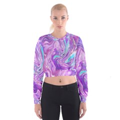 Abstract Art Texture Form Pattern Cropped Sweatshirt