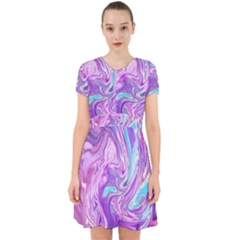 Abstract Art Texture Form Pattern Adorable In Chiffon Dress