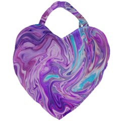 Abstract Art Texture Form Pattern Giant Heart Shaped Tote
