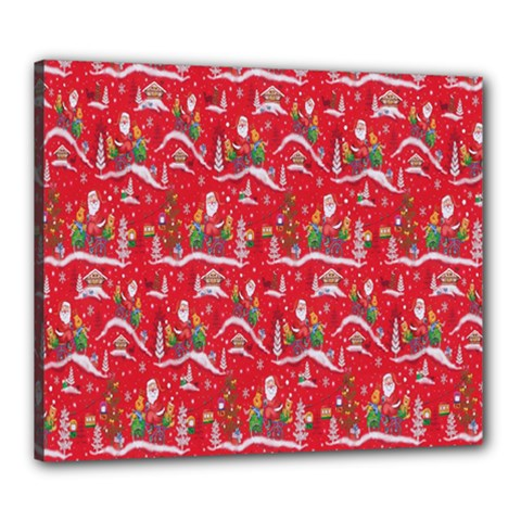 Red Background Christmas Canvas 24  X 20