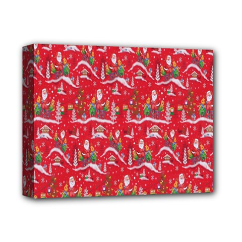 Red Background Christmas Deluxe Canvas 14  X 11