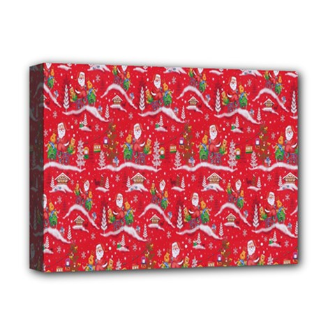 Red Background Christmas Deluxe Canvas 16  X 12