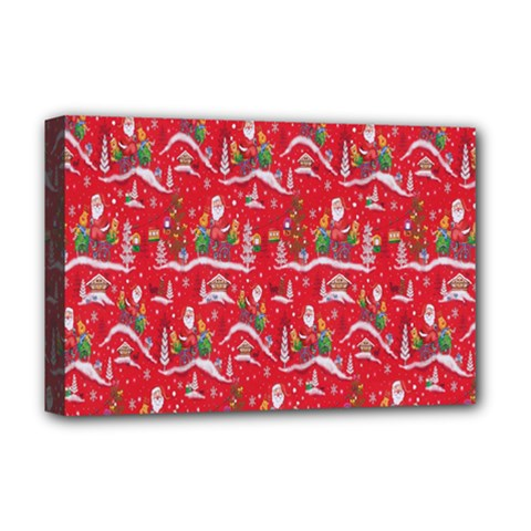 Red Background Christmas Deluxe Canvas 18  X 12