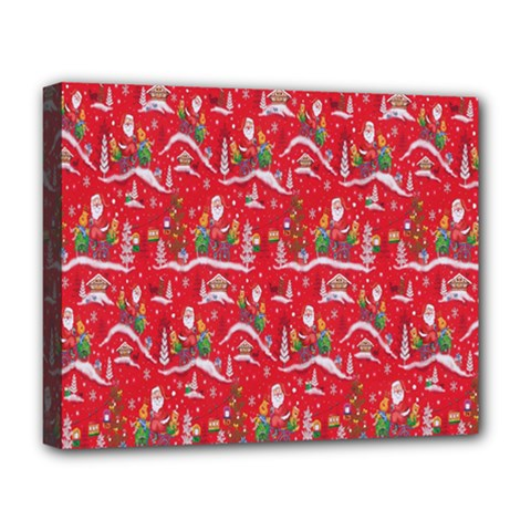 Red Background Christmas Deluxe Canvas 20  X 16