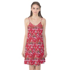Red Background Christmas Camis Nightgown
