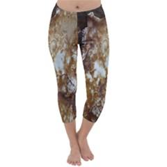 Rusty Texture Pattern Daniel Capri Winter Leggings