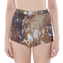 Rusty Texture Pattern Daniel High Waisted Bikini Bottoms