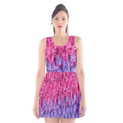 Wool Knitting Stitches Thread Yarn Scoop Neck Skater Dress