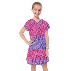 Wool Knitting Stitches Thread Yarn Kids  Drop Waist Dress