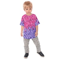 Wool Knitting Stitches Thread Yarn Kids Raglan Tee