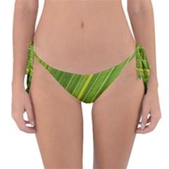 Leaf Plant Nature Pattern Reversible Bikini Bottom