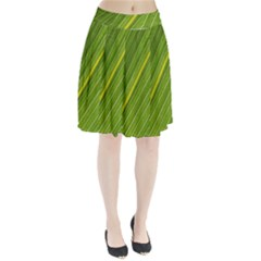 Leaf Plant Nature Pattern Pleated Skirt
