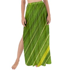 Leaf Plant Nature Pattern Maxi Chiffon Tie Up Sarong