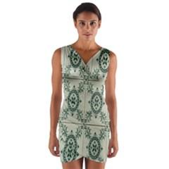 Jugendstil Wrap Front Bodycon Dress